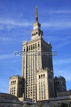 Architecture: Palace of Culture and Science in Warsaw Poland #03981