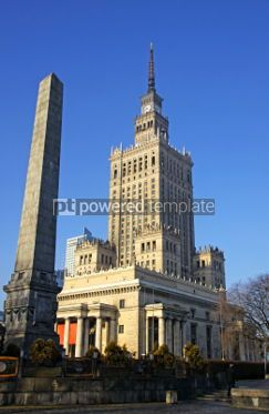 Architecture: Building of Palace of Culture and Science in Warsaw Poland #03982