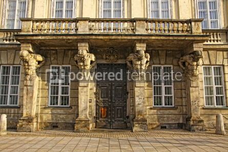 Architecture: Main entrance of the Museum of Warsaw University Poland #03989