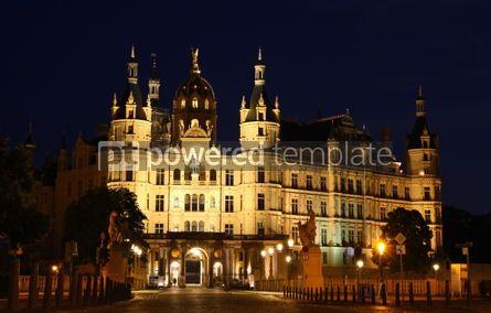 Architecture : Schwerinkasteel (schweriner Schloss) Bij Nacht Duitsland Foto #03994