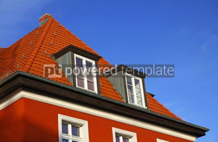 Architecture : Close-up typical german residential house in Frankfurt Oder #04001