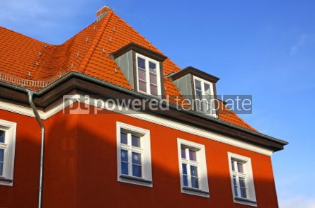 Architecture : Close-up typical german residential house in Frankfurt Oder #04002