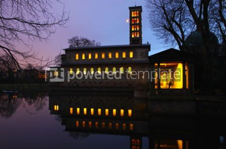 Architecture: Evening view of the Protestant Church of Peace (Friedenskirche)  #04012