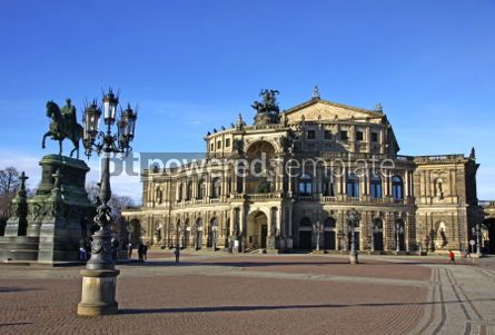 Architecture : Saxon State Opera house at Theaterplatz in Dresden Germany #04015