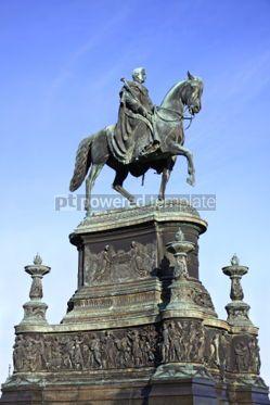 Architecture : Equestrian Statue of King John of Saxony (Konig Johann I. von Sa #04016