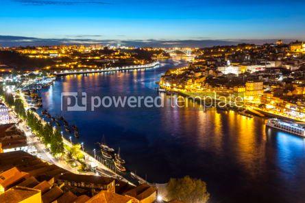 Architecture : Evening view of Porto city and Douro river Portugal #04022