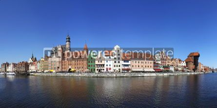 Architecture : City of Gdansk (Danzig) Poland. Panoramic view of Old Town hous #04030