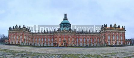 Architecture : Neues Palais (The New Palace) in Sanssouci royal park in Potsdam #04032
