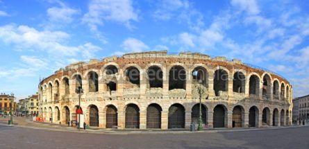 Architecture : Ancient roman amphitheatre Arena in Verona Italy #04033