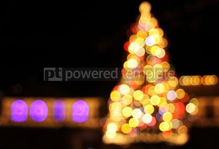 Holidays: Colourful bokeh lights of New Year's tree #04039