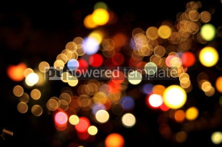 Holidays: christmaslightの抽象的な円形ボケ背景 - 写真 #04042
