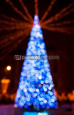 Holidays: New Year's tree made from bokeh lights #04047