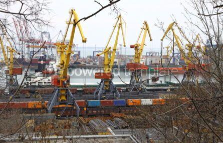 Industrial: Industrial landscape of Odessa port Ukraine #04056