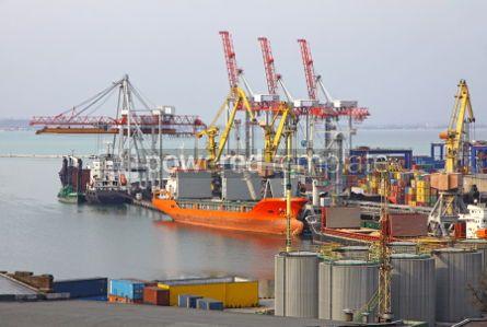 Industrial: Industrial landscape of Odessa sea port Ukraine #04057