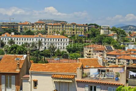 Architecture : Bird-eye panoramic view of Cannes city France #04060