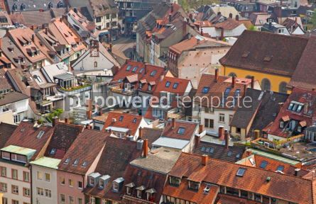 Architecture : Roofs of buildings in Freiburg im Breisgau city #04065