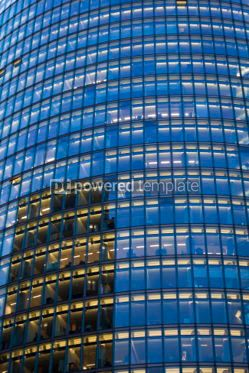 Architecture : Skyscraper with office windows and glass background #04069