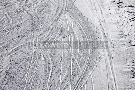 Nature: Ski traces on a snow on the mountain slope #04076