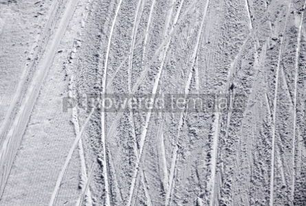 Nature: Ski traces on a snow on the mountain slope #04077