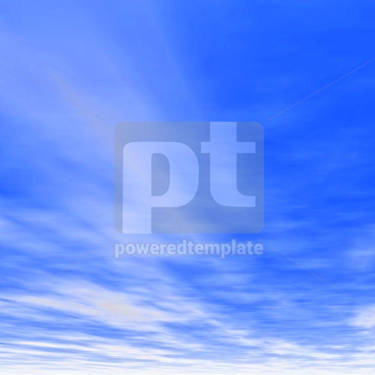 Soft white clouds in the blue sky, 04104, Nature — PoweredTemplate.com