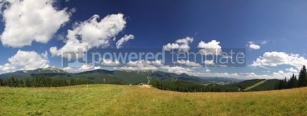 Nature: Panoramic view of beautiful summer Carpathian mountains Ukraine #04105