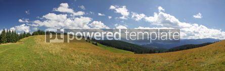 Nature: Panoramic view of beautiful summer Carpathian mountains Ukraine #04106