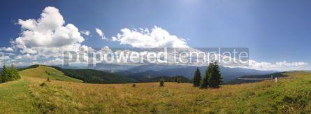 Nature: Panoramic view of beautiful summer Carpathian mountains Ukraine #04107