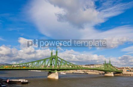 Architecture : Liberty Bridge over Dunabe river in Budapest Hungary #04116