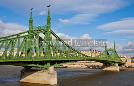 Architecture : Liberty Bridge over Dunabe river in Budapest Hungary #04117