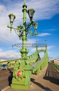 Architecture : Liberty Bridge over Dunabe river in Budapest Hungary #04119