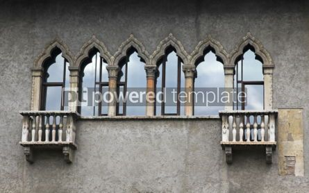 Architecture : Old balconies in Verona Italy  #04121
