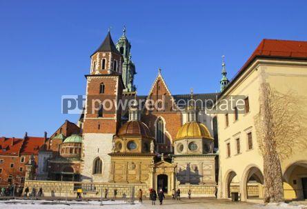 Architecture: Wawel Castle complex in Krakow Poland #04132