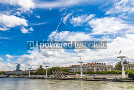 Architecture : Enbankment of the Rhone river in Lyon France #04133