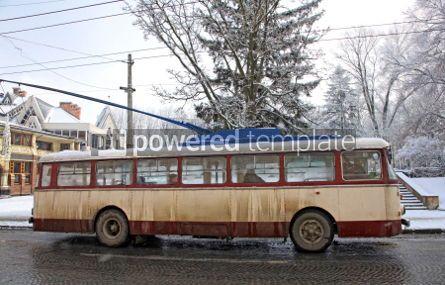 Transportation: Vintage trolleybus on the street of Chernivtsi Ukraine #04136
