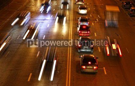 Transportation: Night road traffic in Kyiv Ukraine #04141