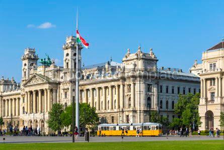 Transportation: Kossuth Square (Kossuth Lajos ter) in Budapest Hungary #04144