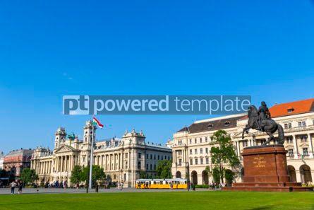 Transportation: Kossuth Square (Kossuth Lajos ter) in Budapest Hungary #04145