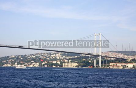 Architecture : Bosphorus Bridge over the Bosphorus strait in Istanbul Turkey #04153