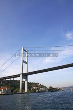Architecture : Bosphorus Bridge over the Bosphorus strait in Istanbul Turkey #04155