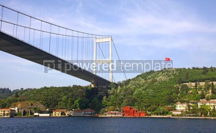 Architecture : Fatih Sultan Mehmet Bridge over the Bosphorus strait in Istanbul #04157