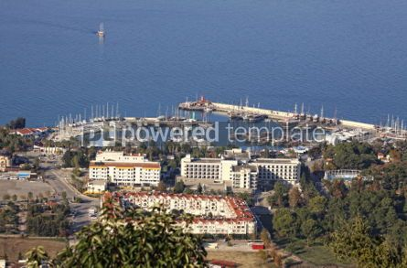 Architecture: Aerial view of sea port of Kemer city Antalya province Turkey #04161