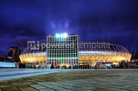 Architecture : Night view of the Olympic stadium (NSC Olimpiyskyi) in Kyiv Ukr #04162