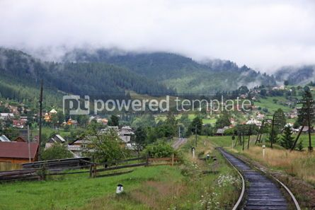 Architecture : Rural view of Vorokhta village in Carpathian mountains Ukraine #04168