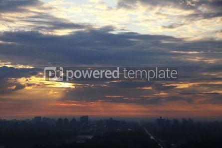 Architecture : Sunrise over the city. Bird-eye view. Kyiv Ukraine #04176