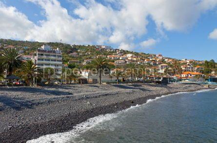 Architecture : Pebble beach in Santa Cruz Madeira island Portugal #04177