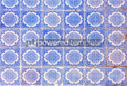 Architecture : Typical old painted tin-glazed ceramic tilework (Azulejo) #04191