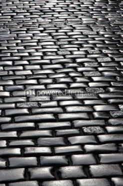 Architecture : Abstract background of fragment of stone blocks pavement surface #04194