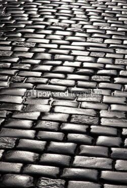 Architecture : Abstract background of fragment of stone blocks pavement surface #04195