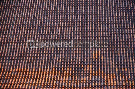 Architecture : Brown tile roof with repeating patterns #04197