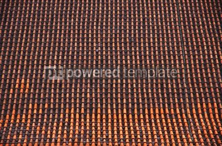 Architecture : A brown tile roof with repeating patterns #04198
